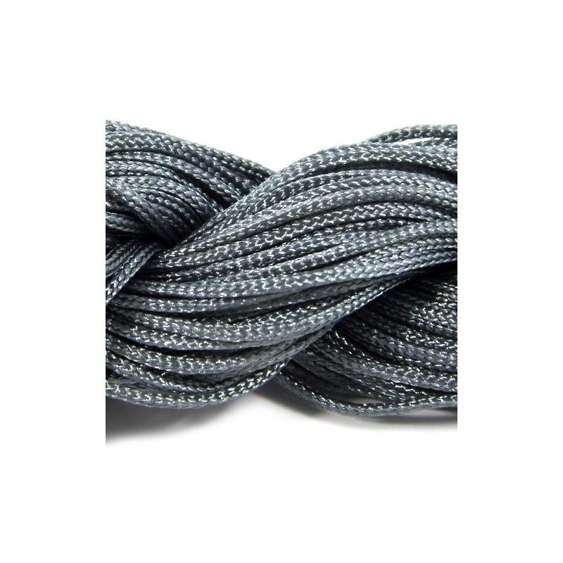 Шнур нейлоновий, Сірий, 1мм, ціна за 1метр