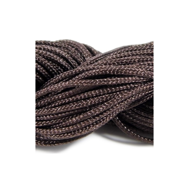 Шнур Нейлоновий, коричневий, 1мм, ціна за 1метр