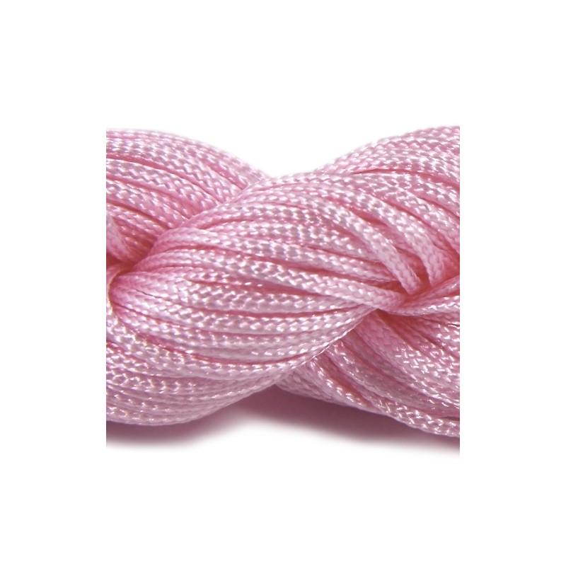 Шнур Нейлоновий, рожевий, 1мм, ціна за 1метр