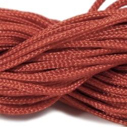 Шнур нейлоновий, Червоний, 1мм, ціна за 1метр