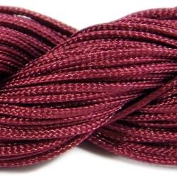 Шнур Нейлоновый, бордовый, 1мм, цена за 1метр