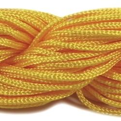 Шнур нейлоновий, Жовтий, 1мм, ціна за 1метр