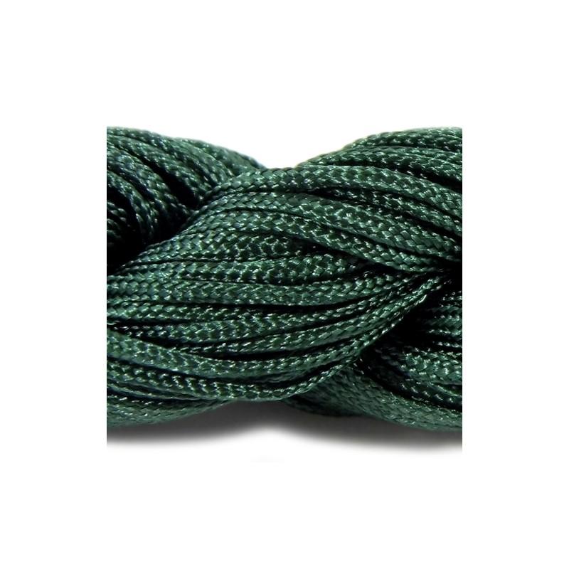 Шнур Нейлоновый, изумрудный, 1мм, цена за 1метр