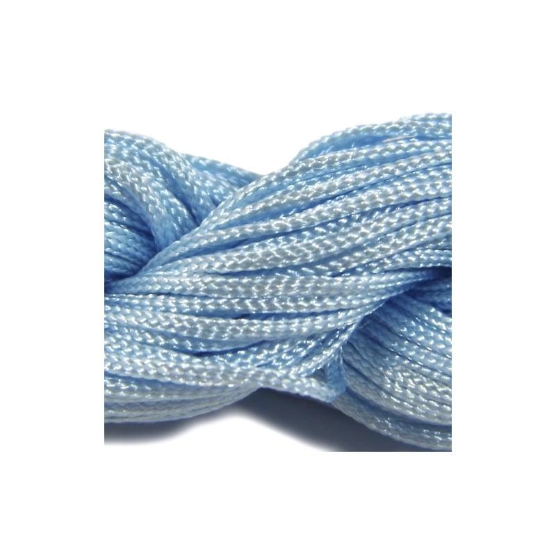 Шнур нейлоновий, Блакитний, 1мм, ціна за 1метр
