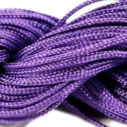 Шнур нейлоновий, Фіолетовий, 1мм, ціна за 1метр