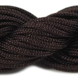 Шнур нейлоновий, коричневий, 2мм, ціна за 1метр