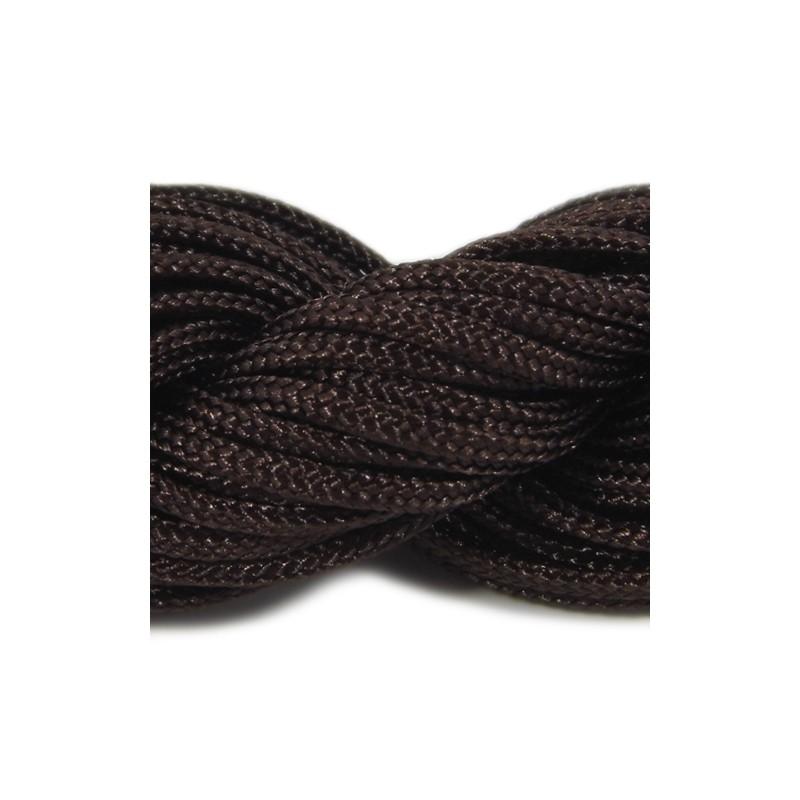 Шнур нейлоновый, коричневый, 2мм, цена за 1метр