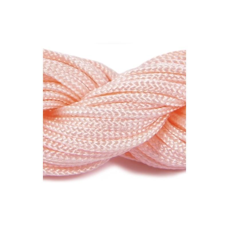 Шнур нейлоновий, персиковий, 2мм, ціна за 1метр