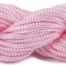 Шнур нейлоновий, рожевий, 2мм, ціна за 1метр
