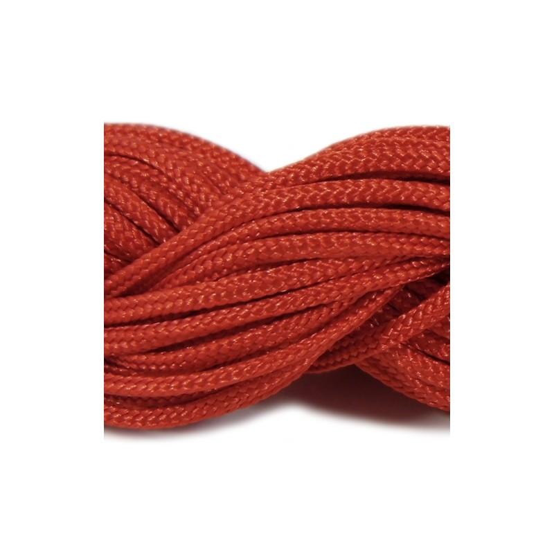 Шнур нейлоновий, червоний, 2мм, ціна за 1метр