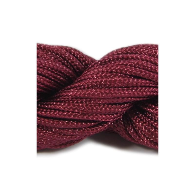 Шнур нейлоновый, бордовый, 2мм, цена за 1метр