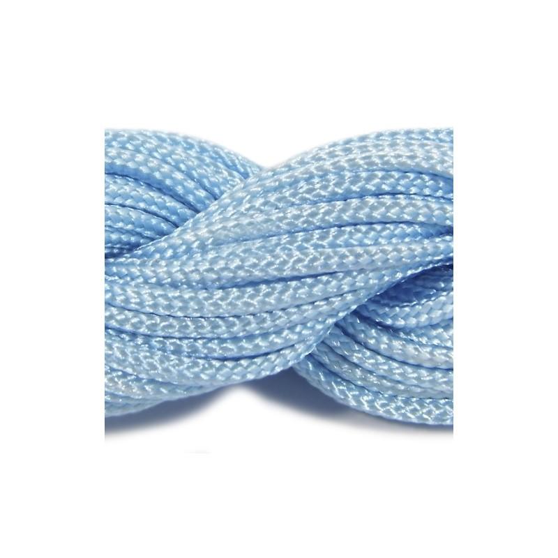 Шнур нейлоновий, блакитний, 2мм, ціна за 1метр