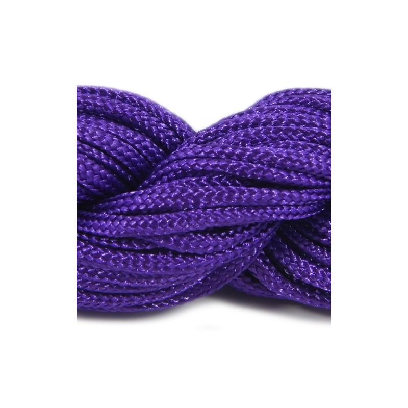 Шнур нейлоновый, фиолетовый, 2мм, цена за 1метр